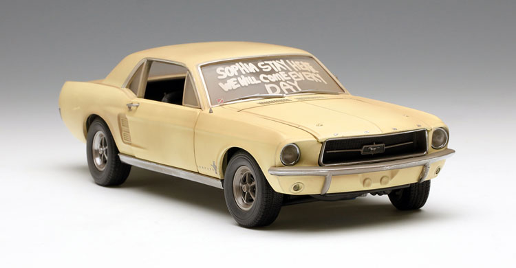 Rare Model GreenLight 1:18 1967 Ford Mustang Sophia Zombie film version Alloy car models Favorites Model(China (Mainland))