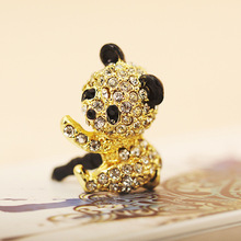100pcs/lot Cute Silly Little Bear Design Mobile Phone Ear Cap Dust Plug For Iphone For Samsung And All 3.5mm Earphone Dust Plug(China)