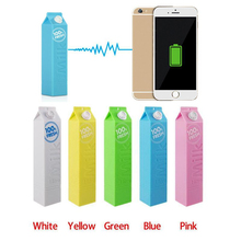 Free Shipping Fresh Milk Design 2600mAh Backup Power Bank Portable Universal Charger for iPhone 4 4S 5 5S 5C 6 7 and Others