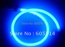 [Seven Neon]Free DHL express shipping 50meters 220V flexible blue light led neon light,waterproof led rope light