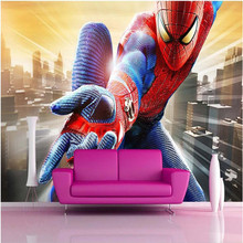 Photo background wallpaper photography US film Spider-Man trapeze bathroom Hotel wall art mural murals-3d wall papers home decor