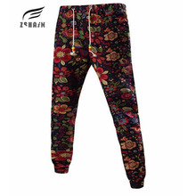 Autumn Winter 2017 New Men'S Casual Letters Loose Sweatpants Spell Color Printed Family wind Trousers Joggers Men Pants Flowers