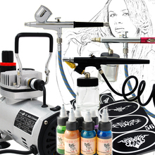 Professional Body Art Airbrush Kit Body Painting 3 Airbrushes System