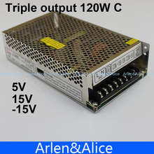 T 120W C Triple output 5V 15V -15V Switching power supply smps AC to DC(China)