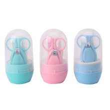 4pcs Baby Kids Infant Finger Toe Nail Clipper Scissor Cutter Safety Manicure Set-P101(China)