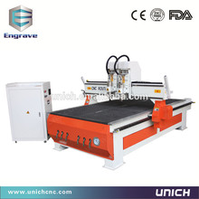 cnc router woodworking UNICH!dust collector cnc router with two head LXM1325