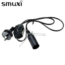 Smuxi US/EU/UK/AU Plug 1/1.2/1.8/2M E14 Lamp Base Electric Power With Dimmer Switch Cord For Himalayan Salt Lamp White/Black