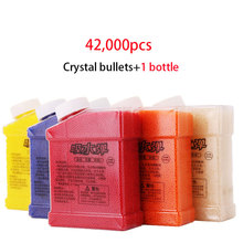 42000Pcs Color Crystal Paintball Soft Bullets With Bottle Toy Gun Accessories Color Orbeez Crystal Mud For Nerf Toy Gun(China)