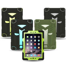 For apple iPad mini 4 Case 3 in 1 Protection Stand Cover Case For iPad mini4 360 Full Shockproof Heavy Duty Silicone Hard Cover