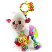 2016 NEW Cute Baby Rattles Soft Music Goat Hanging Baby Infant Kids Soft Dolls Educational Toys Teether(China)