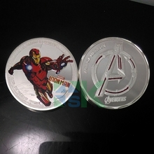 30pcs/lot The Avengers Iron Man Challenge Coin Creative Comic Collection Free Shipping