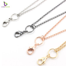 10pcs/lot 2.5mm width 30 inch 4 color rolo chain necklace for floating locket chains superior quality LSCH04-1*10
