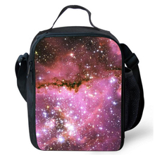 Portable Insulated Kids Picnic Lunch Bag Thermal Food Bag Galaxy Star Universe School Supplies Keep Warm Kid Lunch Box(China)