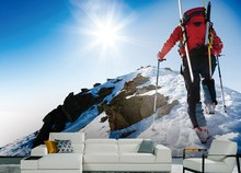 Photo wallpaper Custom 3D Mountaineering snow mountain extreme sports shop equipment store exhibition 3D wallpaper mural(China)
