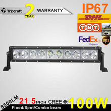 Factory Price 21.5inch 100W CREE Led Light Bar For ATV 4X4 Offroad Light Bar 12V Boat Tractor Led Work Light Driving Lights