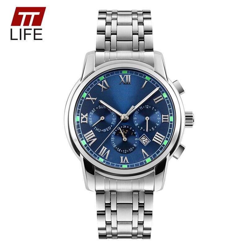 Original TTLIFE Brand Clock Stainless Steel Wristwatches Men Quartz Watch Famous Brand Men Business Watch Waterproof Watches<br><br>Aliexpress