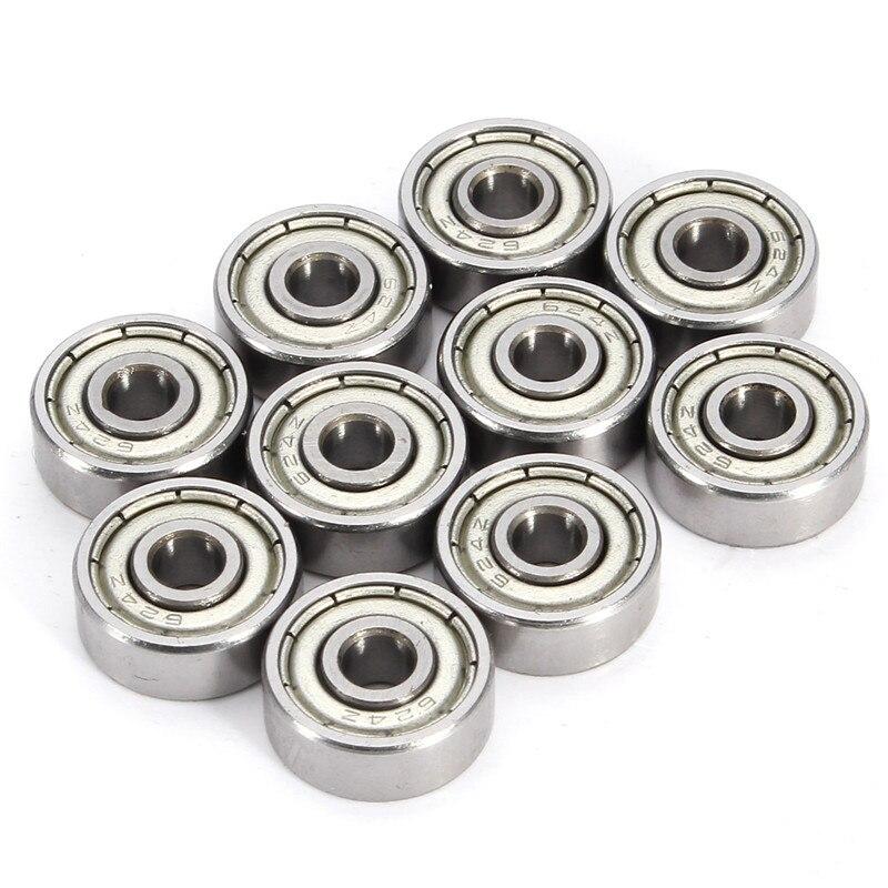 Newest 10Pcs 624ZZ Metal Miniature Ball Bearings Mini Steel Bearing 4 x 13 x 5mm For 3D Printer partsTool New Arrival<br><br>Aliexpress