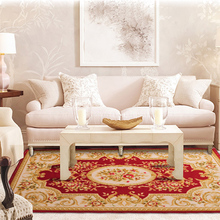 New European Classical Living Room Area Rugs Jacquard Textile Carpet  For Bedroom Coffee Table Home Carpet Anti-Slip Floor Mats