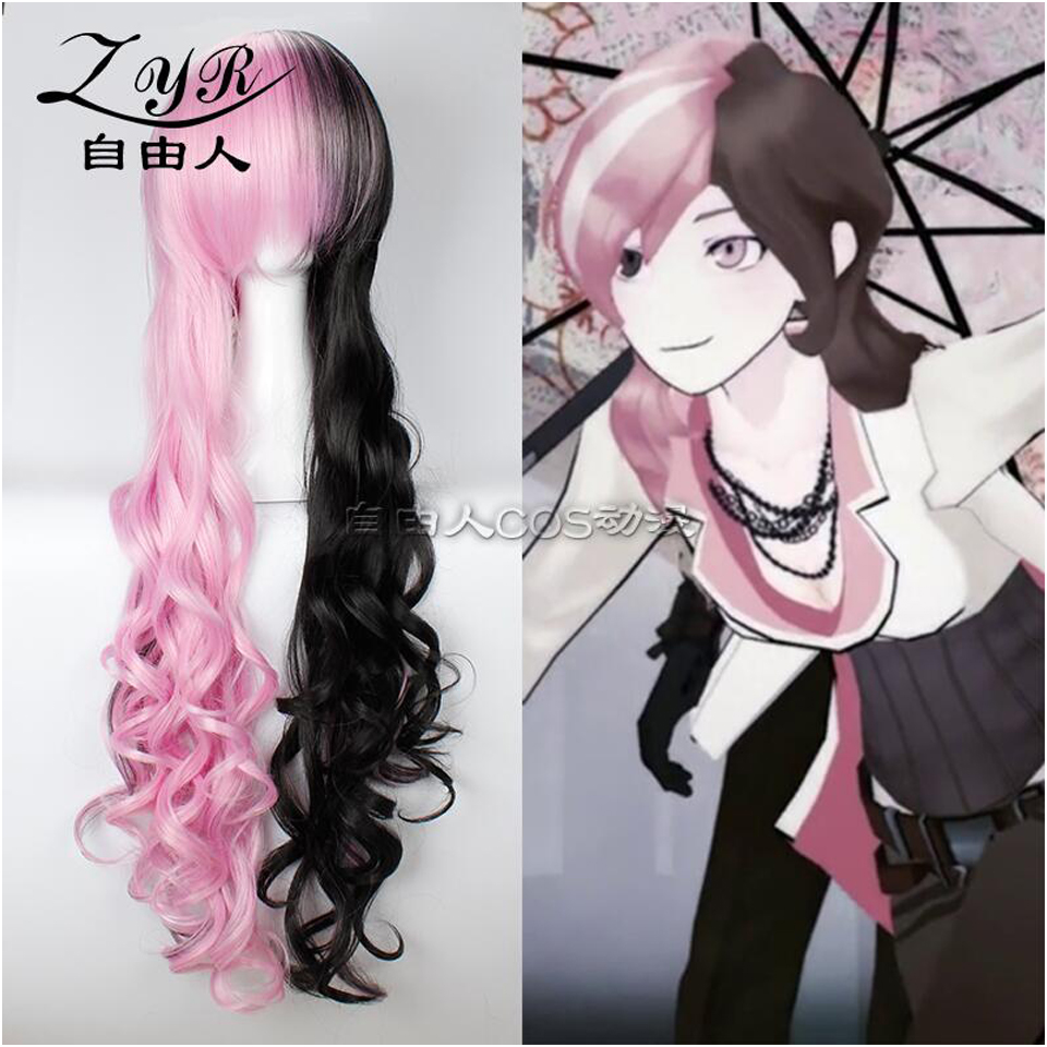 Sofeel RWBY Neo cosplay wig ombre two tone pink and black wig synthetic wigs for women synthetic wig<br><br>Aliexpress