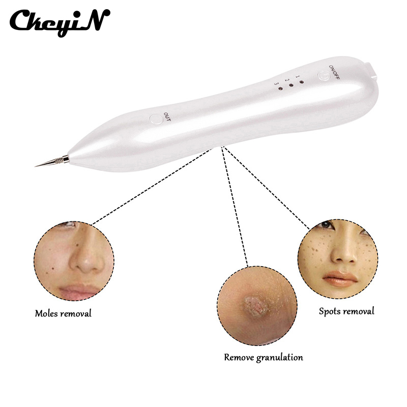 CkeyiN Electric Ion Mole Removal Tool Dark Spot Remover Freckle Dot Wart Removal Machine Face Skin Care Needles Beauty Device<br>