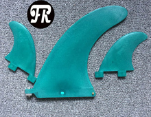 surf fins 8 inch+2GL stand up paddle board green color(China)