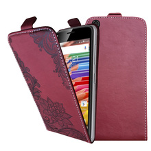 3D Stereo Embossing lace flower butterfly flip up and down leather phone bag cover case for ZTE Geek 2,2 Lte ,2 pro(China)