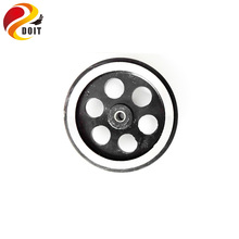 Original DOIT metal Wheel for smart robot car chassis Big Truck with rubber 95mm Diameter diy rc toy metal tire encoder tyre