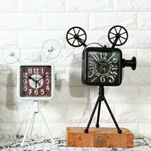 Shabby Chic Projector style Vintage Home Decor Bar Cafe Decoration Antique Clock Table Clock