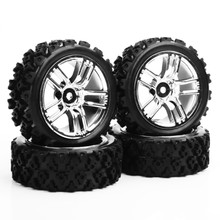 4pcs/set PP0487+GTC 1/10 Rc Model Car Parts Accessories RC Rally Racing Off Road Car Tyre 12mm Hex Kids Toys Collection(China)