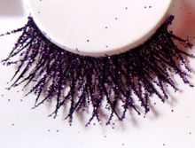 1 pairs 15 fork bright purple onion powder glitter nightclub serves to improve gas field false eyelashes for women makeup SF30