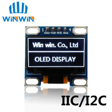 "1pcs 0.96""white 0.96 inch OLED module  New 128X64 OLED LCD LED Display Module 0.96""  IIC  I2C Communicate"