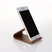Universal Cellphones Ultra Compact Genuine Walnut Wood Desktop Dock Stand Holder for iPhone 4S 5S 5C 6 6S 7 Plus for Samsung