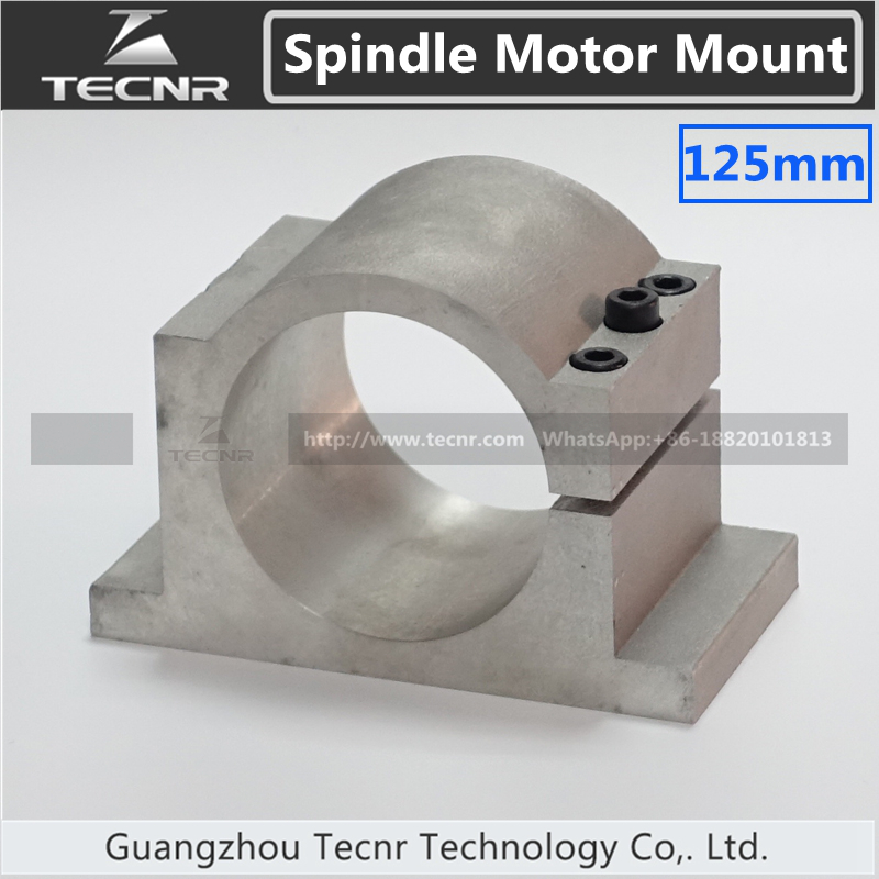 cast aluminum 125MM spindle motor bracket clamp for 4.5KW 5.5KW water cooled spindle motor<br>