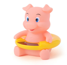 New Free Shipping Cute Animal Bath Tub Baby Infant Lovely Pig Thermometer Water Temperature Tester Toy
