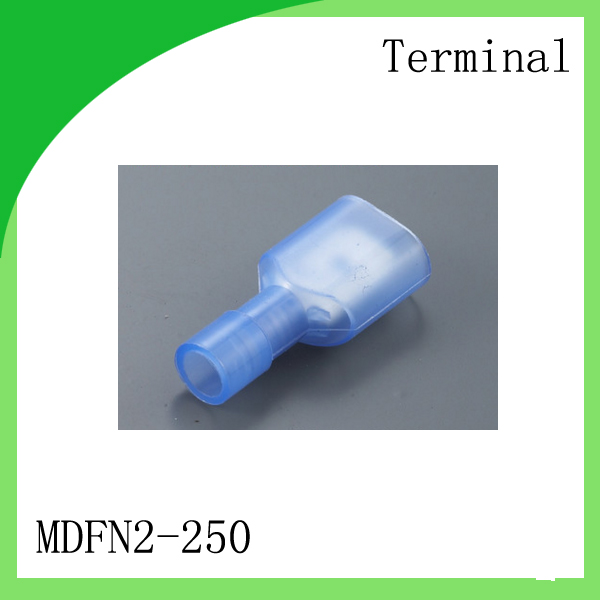 Brass 1000 PCS MDFN2-250 cold-pressure terminal   Cold-pressed terminals Nylon insulated inserts 6.3 Patch terminals<br>