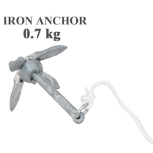 small mini metal anchor for fishing boat PVC inflatable boat metal steel iron anchor rope optional chain 0.7kg
