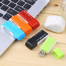 High Quality 1pc USB 2.0 Memory Multi Flash Card Reader Adapter For SD TF M2 MS