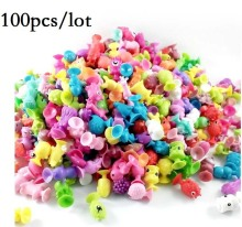 100pcs PVC Mini Sucker Dolls kids Marine Monster Animal Cupule Action Figure Toy Suction Cup Collector Capsule Model Puppet gift