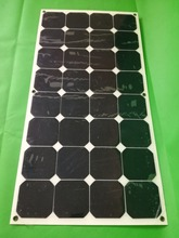 1x 100W Monocrystalline Solar by mono solar cell factory cheap selling 12V solar panel for RV/Marine/Boat use.