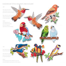 The birds are embroidered cloth paste clothes fill hole DIY manual trim patch Decal trumpet gum B28