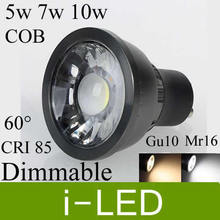 Cob Led Spotlight 5w 7w 10w Dimmable Led Lamp Downlight Gu10 Mr16 Led Lights For Home 60angle 110-240v 12v warm / cold white