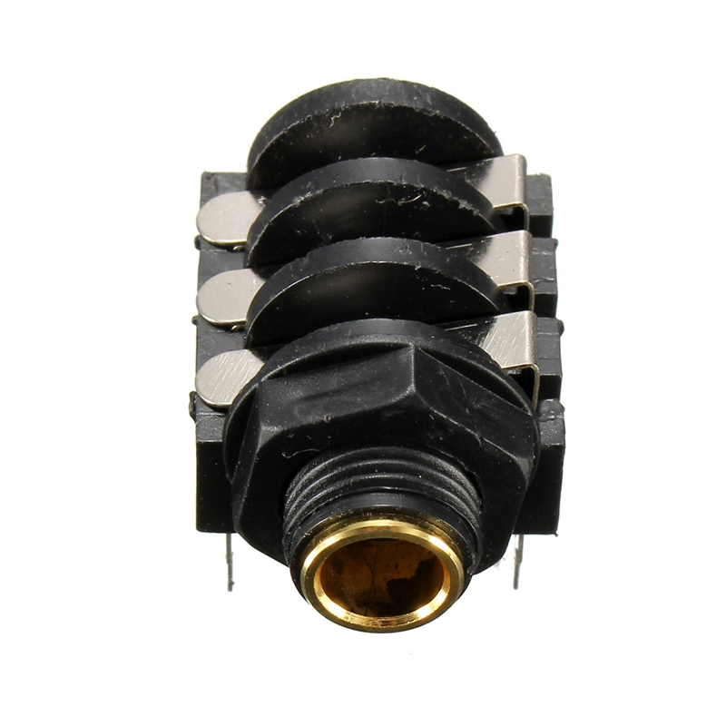 6.35mm (1/4) Jack Socket Connector Stereo Unswitched Chassis Mounting Adapter Panel Connection Earphone Microphone Socket(China (Mainland))
