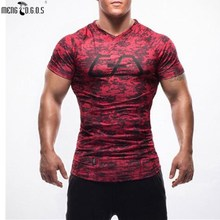 Rushed Summer Golds gyms T-shirts Men Bodybuilding V Neck Top Casual Men's Short Sleeve M-2xl Freepost Compression Clothes
