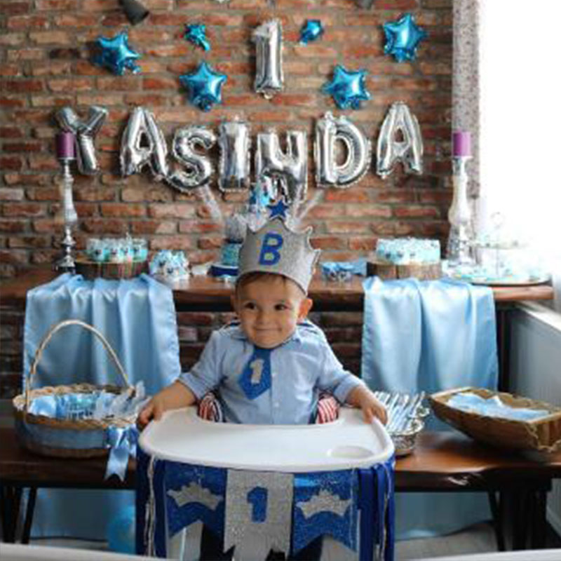 Baloons 1st Birthday Balloon Air One 1 Year Old First Decorations Latex Foil Kids Favor Baby Shower S6XZ