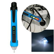 Portable AC Voltage Tester Pen Shaped Detector with Light Non-Contact Electric Volt Alert Detector Sensor 12V-1000V