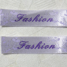 custom clothing shirt jacket woven labels/garment tags printing/logo brand name/embroidered main tag/collar label(China)