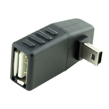 High quality 90 Degree upward Angled Mini USB Male to USB 2.0 AF AdapterFree Shipping