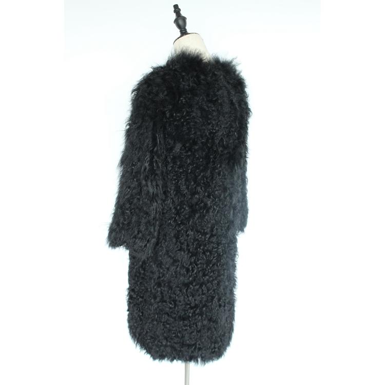 women natural lamb sheep fur coat (17)