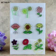Sunflower many Flowers Scrapbook DIY photo cards account rubber stamp clear stamp transparent stamp card DIY stamp 11*16cm