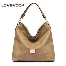LOVEVOOK large capacity women shoulder bag female casual tote hobos handbag famous brands high quality messenger bags(China)